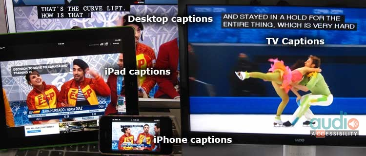 Accessible Olympics via captions on TV, computer, tablet, phone.