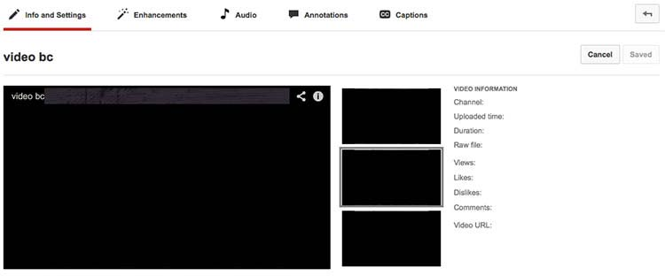 YouTube page screenshot showing an interface with a top navigation that includes a link to go to a page to add captions