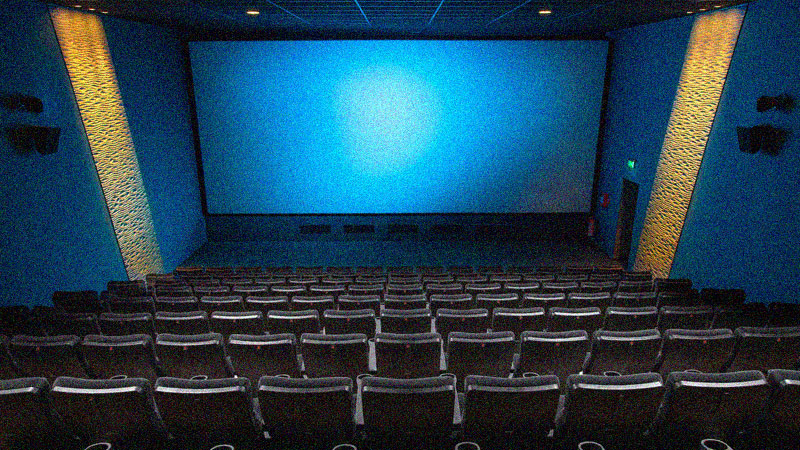 Theater room with seat rows