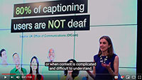 80% of captioning users are not deaf